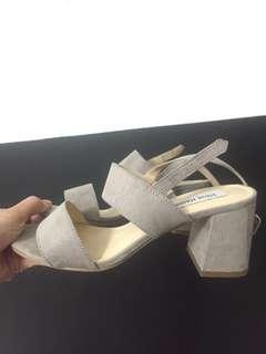 Steve Madden suede block heels