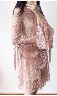 Alice McCall pink lace dress