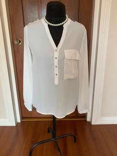 Women: L'Amour white blouse Medium