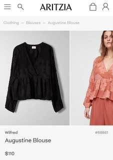 Aritzia Augustine blouse black