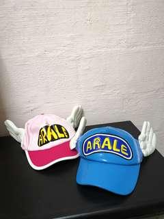 Anime Cosplay Arale Caps, Pink and Blue