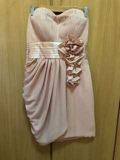 Old rose formal tube dress