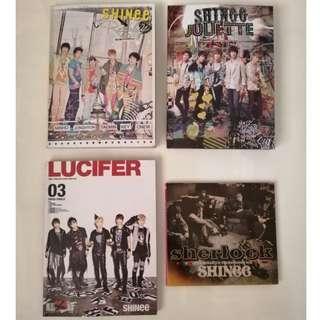 SHINee Japanese Album Bundle [Replay, Juliette, Lucifer, Sherlock]