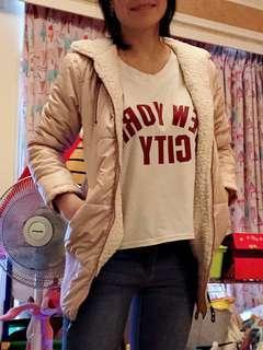 🚚 粉色 羽絨外套(厚款保暖)