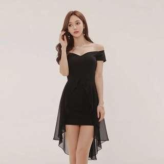 Dress全新黑色晚宴晚裝裙