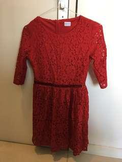 Beautiful Red Lace Dress from England