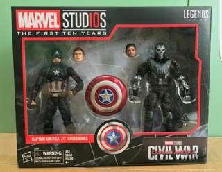 全新marvel legends captain american iron man