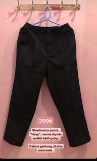 Stradivarius navy pants