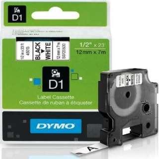 Dymo D1 45013 Labeling White 0.5 Inch Tape Cartridge