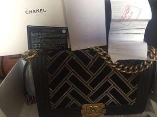 Chanel Boy suede 2016