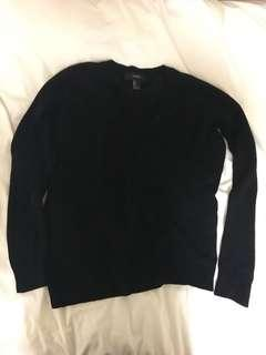 Black F21 V Neck Sweater