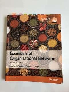 Essentials of Organizational Behaviour