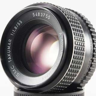 **日光銀鹽** Pentax SMC Takumar 55mm F1.8 M42接環 #755
