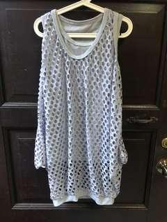 Gray sleeveless Top