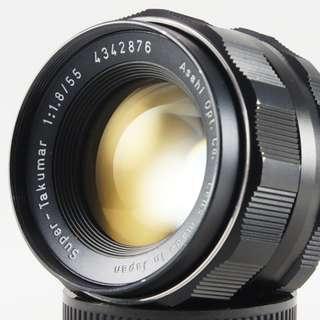 **日光銀鹽** Pentax Super-Takumar 55mm F1.8 M42接環 #2876
