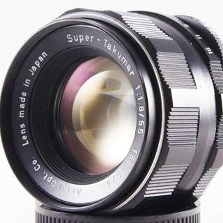 **日光銀鹽** Pentax Super-Takumar 55mm F1.8 M42接環 #624
