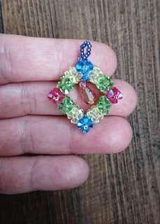 [限時爆血價]全新轉賣售 開運七彩立體串珠水晶 項鍊 墜飾 吊飾