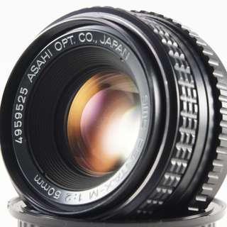 **日光銀鹽** Pentax-M SMC 50mm F2.0 PK接環 #525