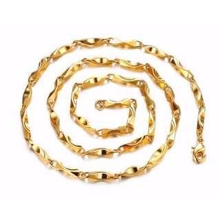 🚚 Luxury Gold Plated Men's Ingot Chian
