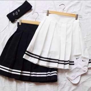 📦[INSTOCK] Black Stripes Sailor AA Tennis Skirt‼️