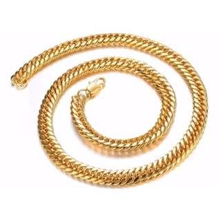 🚚 Chunky Luxury Gold Filled Curb Cuban Chains Necklace Thick Heavy Link Chain