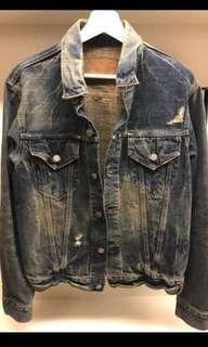 日本製洗舊丹寧外套size-3