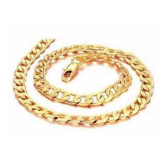 🚚 18k Gold plated Bracelet Manual twist shape Link chain