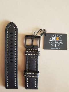 H3 Tactical Leather Watch Strap