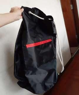 antler nylon sports cylinder bag黑色尼龍運動袋圓桶袋