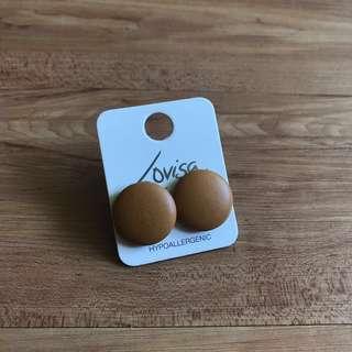 Lovisa Tan Button Earrings