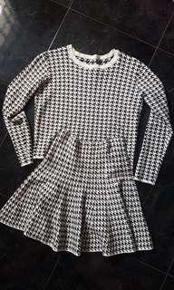 🚚 Houndstooth Sweater + Skirt set