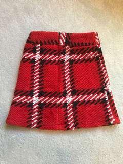 Cute red check skirt