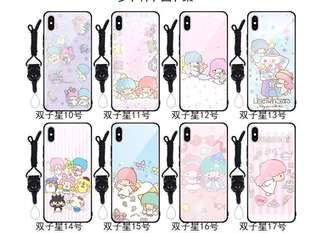PRE-ORDER PH007 TWIN STAR Tempered Glass Back Case