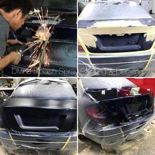 Repair Dents & Respray
