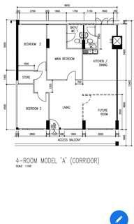 4-room 103sq mtr Serangoon Noth Ave 4 Blk 536