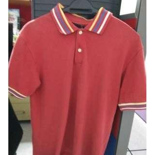 Diesel Collar Tshirt Red Color