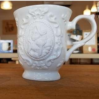 日本SUNART長髮公主浮雕陶瓷馬克杯(Cameo Mug - Rapunzel)