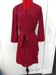 Dancing leopard - patterned wrap dress - UK 6