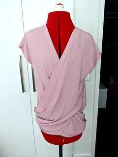 Forcast - dusty pink wrap top - AU 4