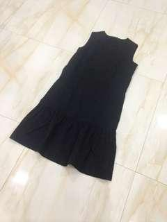 Ruffle Black Dress
