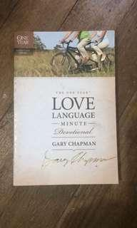 Love Language Minute Devotional Gary Chapman
