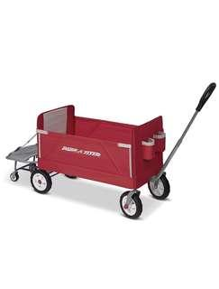 🚚 Radio Flyer 3-in-1 Tailgater Wagon, Red