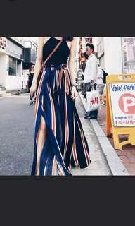 Highwaisted culottes with slits