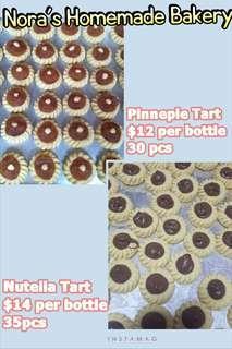 Nutella Tarts and Pinneple Tart