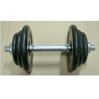 Rubberised Dumbbell set 1x11kg (Elite Fitness)