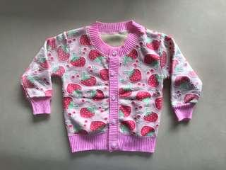🚚 Faux strawberry cardigan