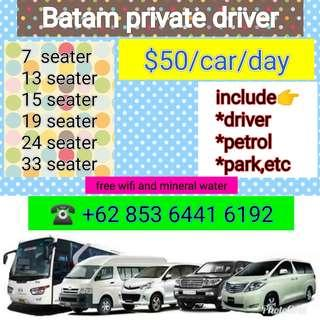 Batam cars and private driver