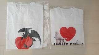 全新-馴龍高手3 官方T恤/成人款300元.兒童款300元/皆為S號