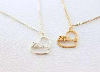 Heart Shaped Personalised Necklaces