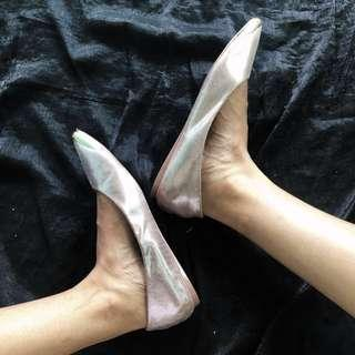 Flat shoes rosegold